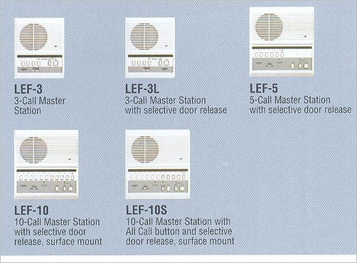 lef 3 aiphone 3 call master station surface mount. Black Bedroom Furniture Sets. Home Design Ideas
