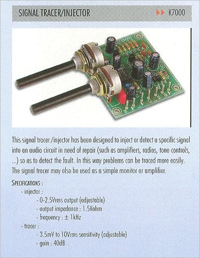 Signal Injector Kit : K velleman signal tracer injector